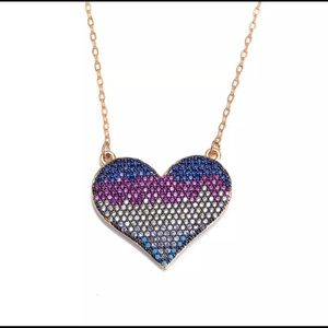 Jewelry - Gorgeous heart necklace 18k gold plated